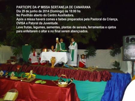 Convite para Missa Sertaneja 2014